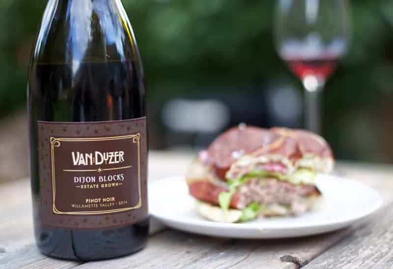 Van Duzer Pinot Noir -- Wine Pairing with Smoked Lamb Burgers