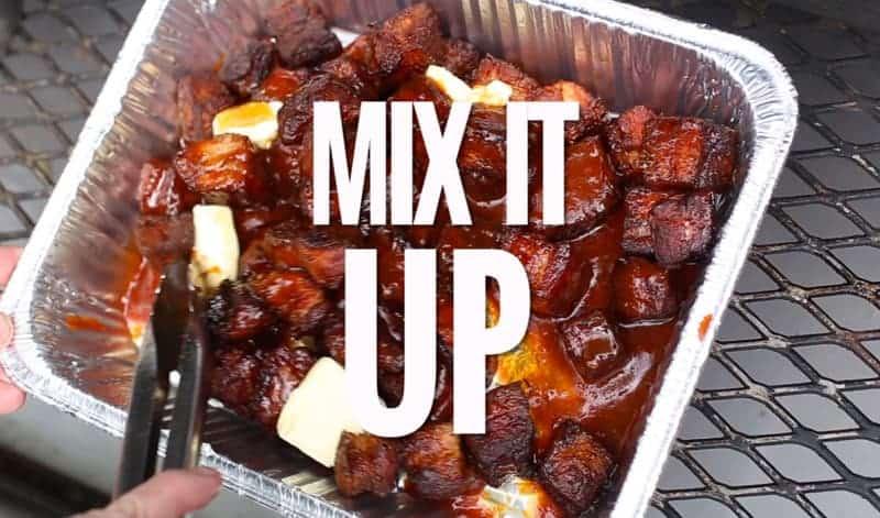 Making Pork Belly Burnt ends