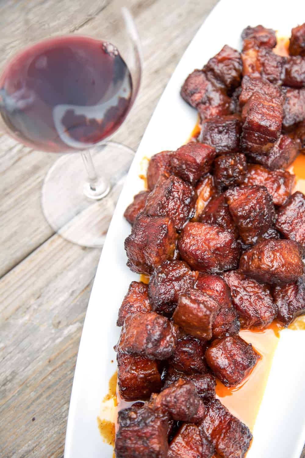 Pork Belly Burnt Ends and Wine Pairing