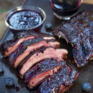Blueberry Bourbon Rosemary Pork Ribs