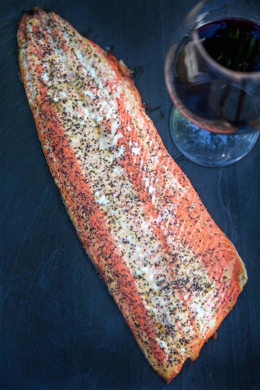 How to Perfectly Smoke Salmon, and Pair it with Wine