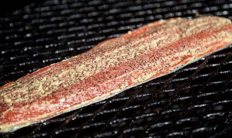 Salmon Cooked on the Smoker