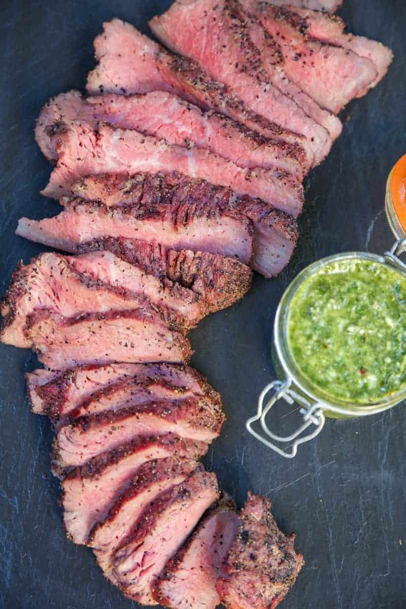 Smoked Tri Tip with Chimichurri Sauce