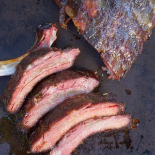 Sweet and Savory Honey Dijon Glazed Smoked Ribs