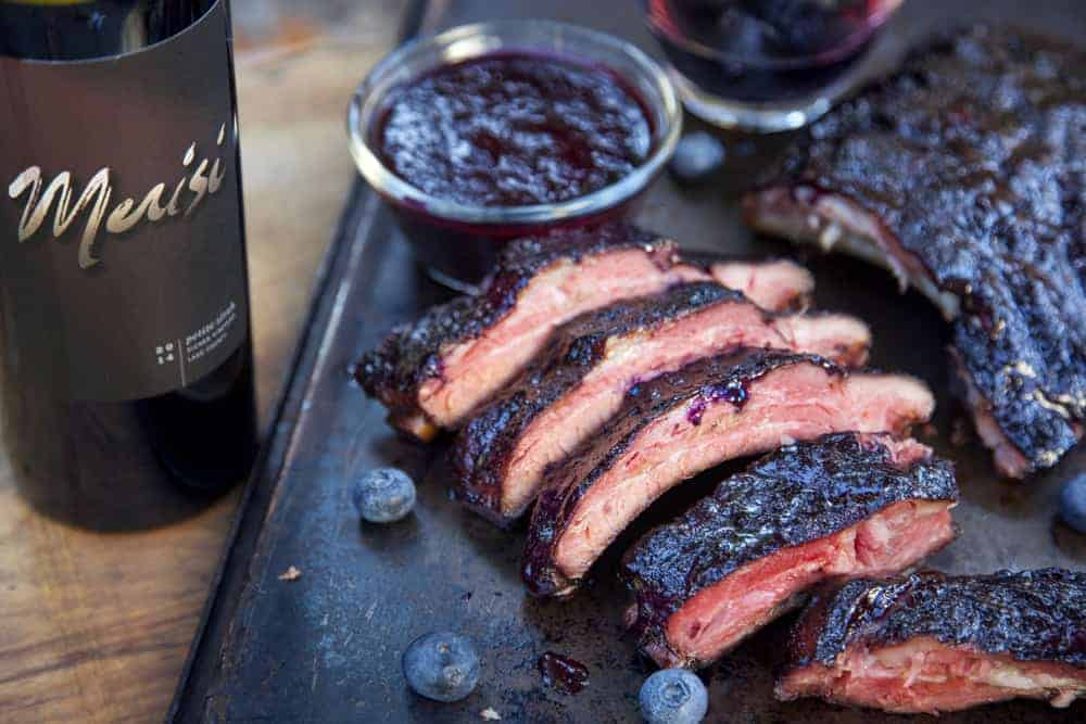 Wine Pairng with Blueberry Bourbon Ribs