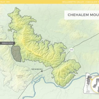 Chehalem Mountains AVA Wine Map via The Oregon Wine Board