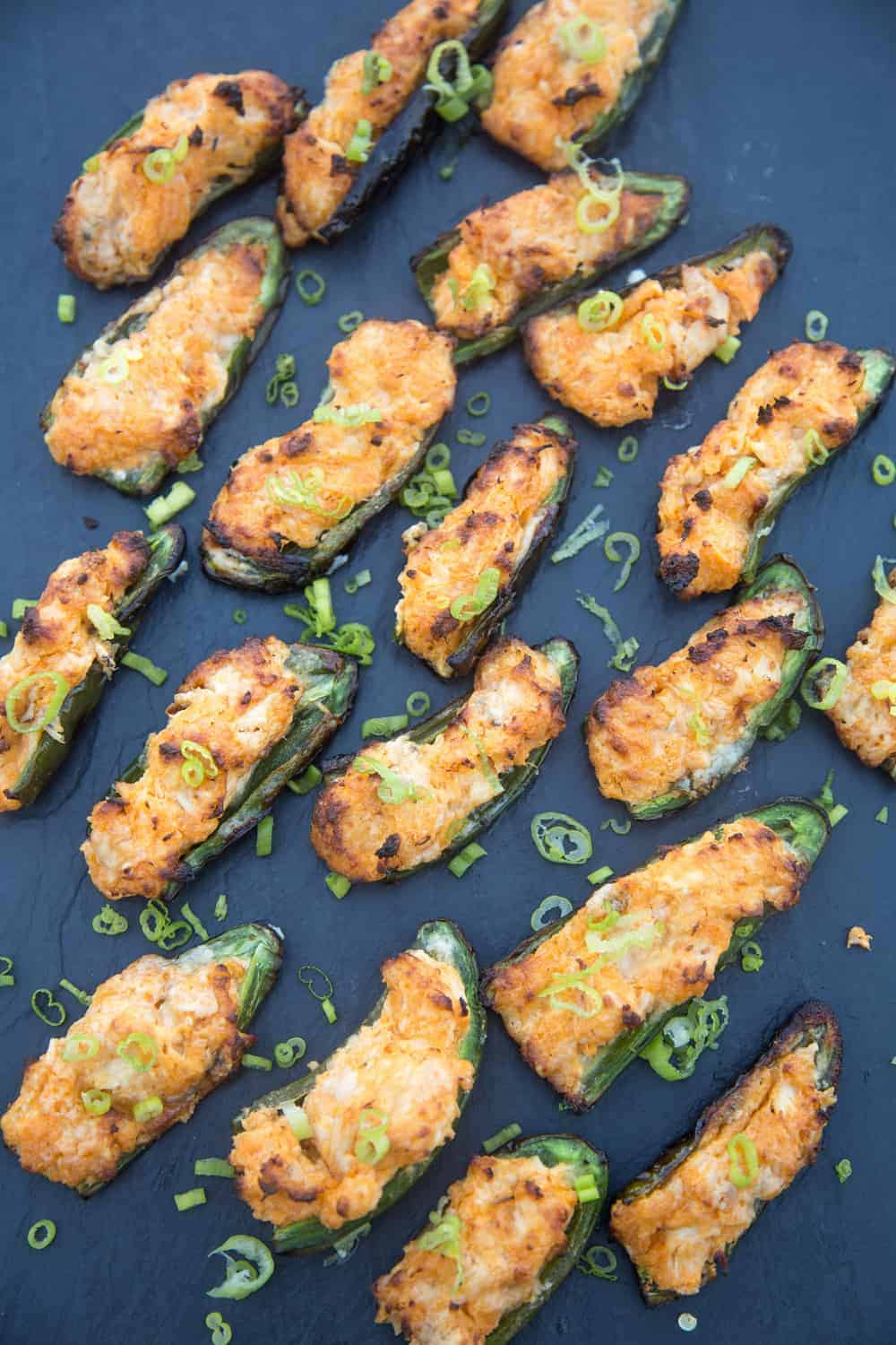 Grilled Buffalo Chicken Jalapeño Poppers