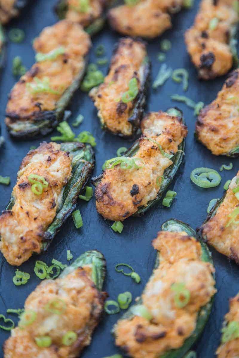 Grilled Buffalo Chicken Jalapeño Poppers