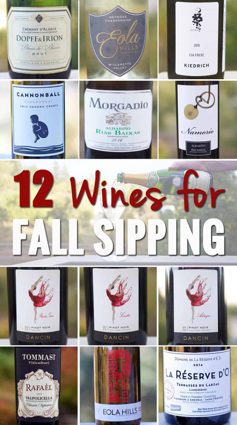 12 Wines for Fall Sipping, wine recommendations for this gorgeous fall season.