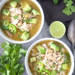 Simplified Smoked Salsa Verde Chicken Soup