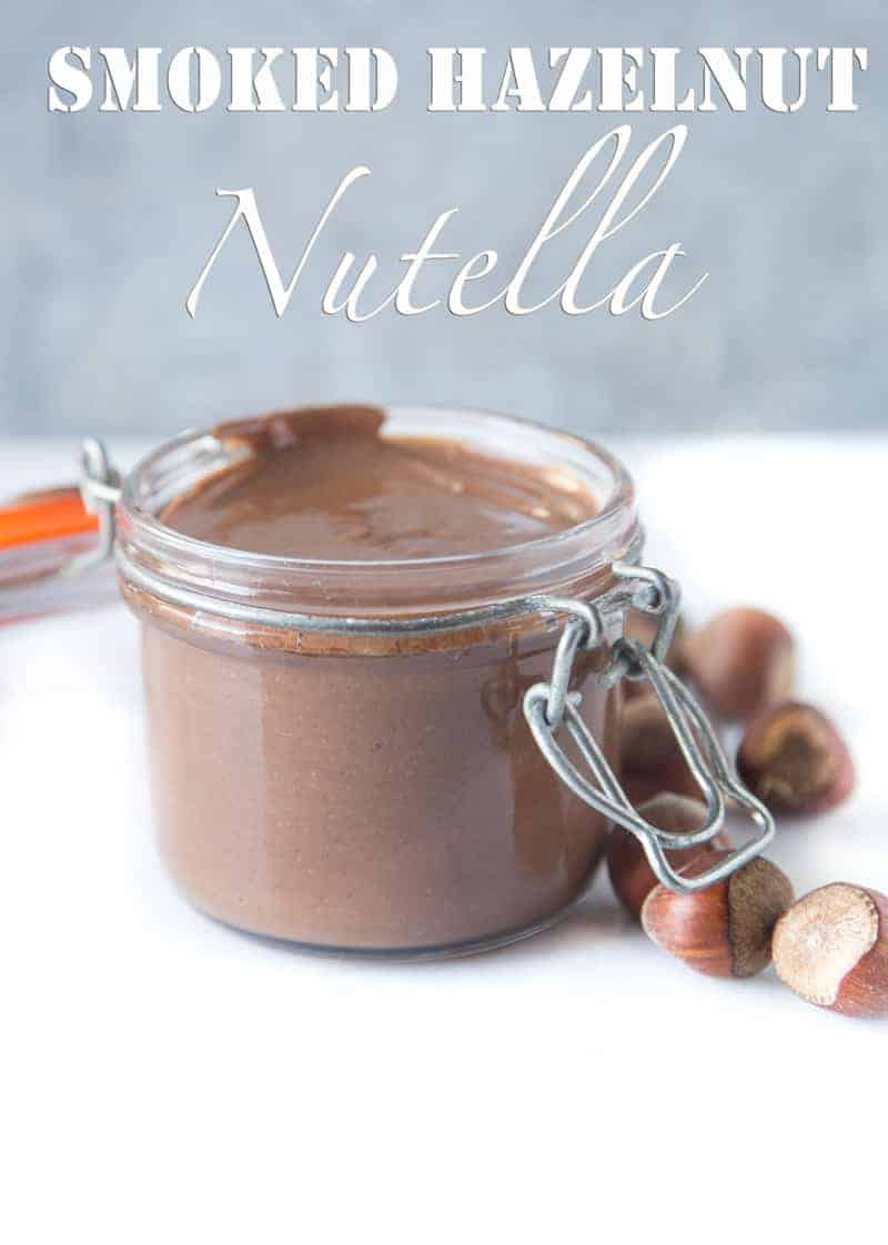 Smoked Hazelnut Nutella. An incredible smoky, creamy, chocolaty treat made with smoked hazelnuts. Easy, creamy, and simply indulgent.