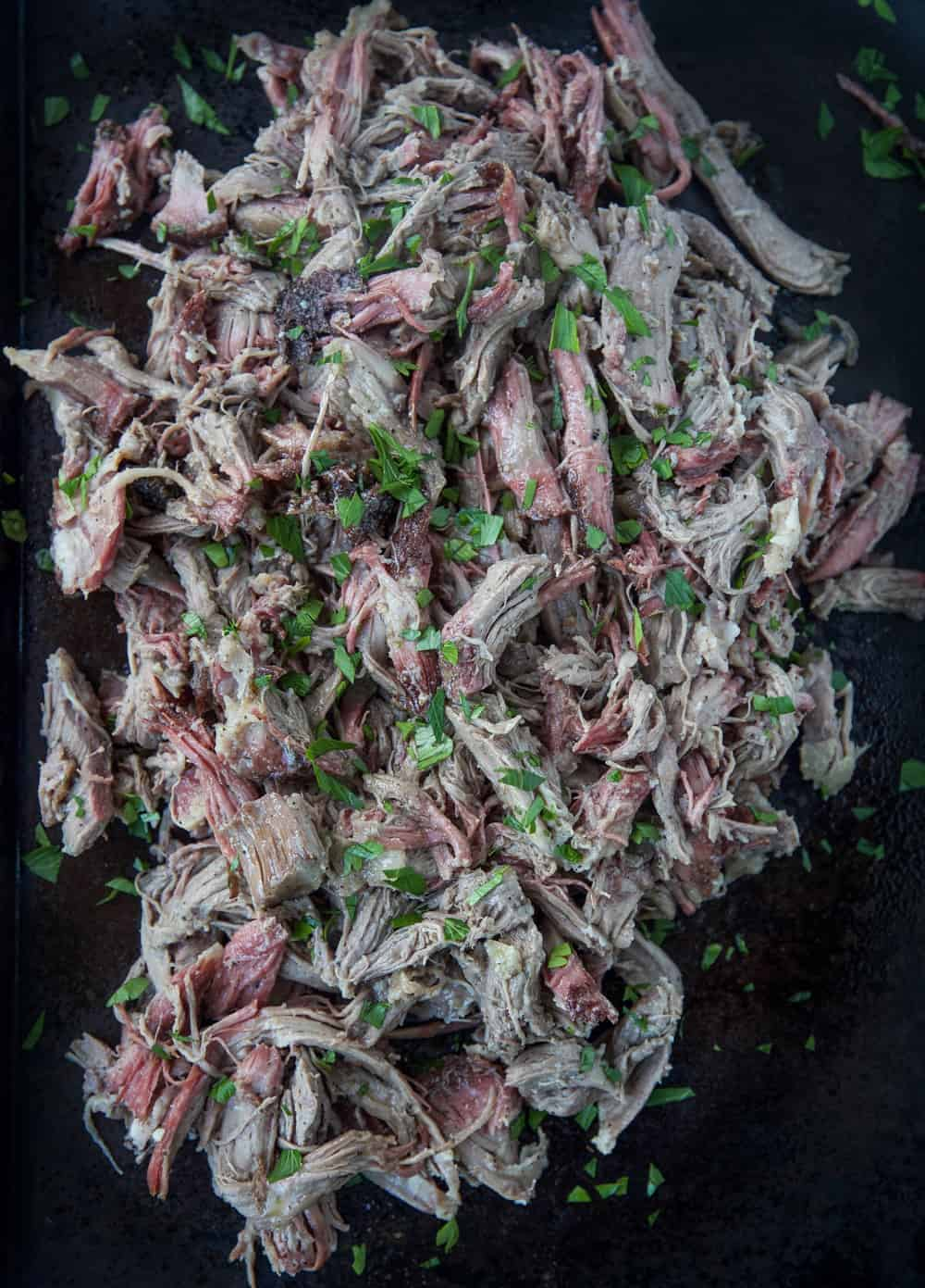 Pulled Smoked Lamb Meat
