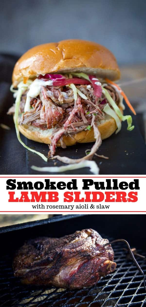 smoked pulled lamb sliders pinterest image