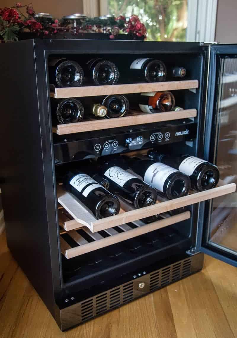 newair black stainless steel wine cooler holiday gift for your favorite wine lover vindulge. Black Bedroom Furniture Sets. Home Design Ideas