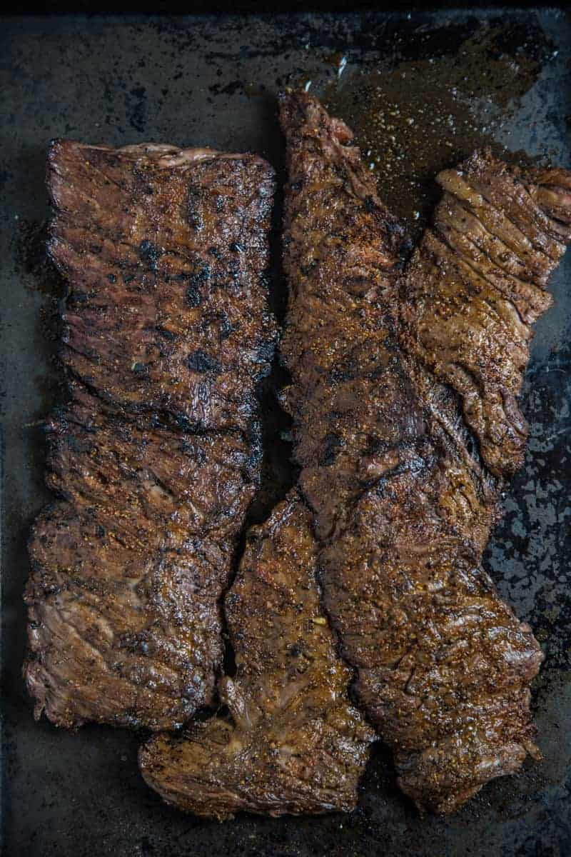 Grilled Skirt Steak with a Red Wine Marinade
