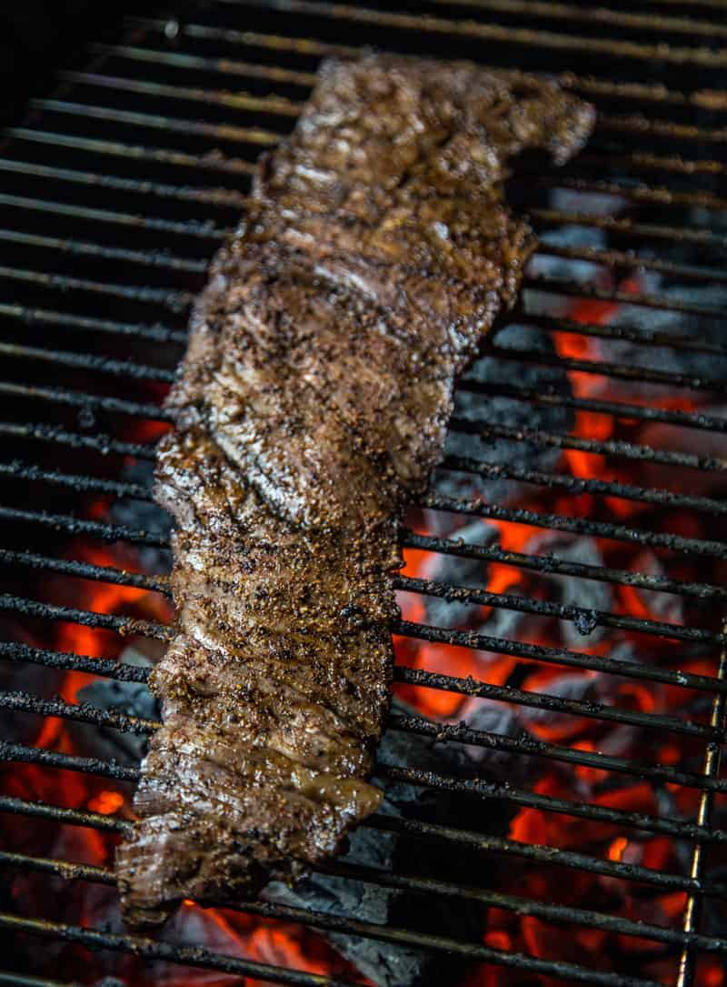 Grilling a Red Wine Marinated Skirt Steak