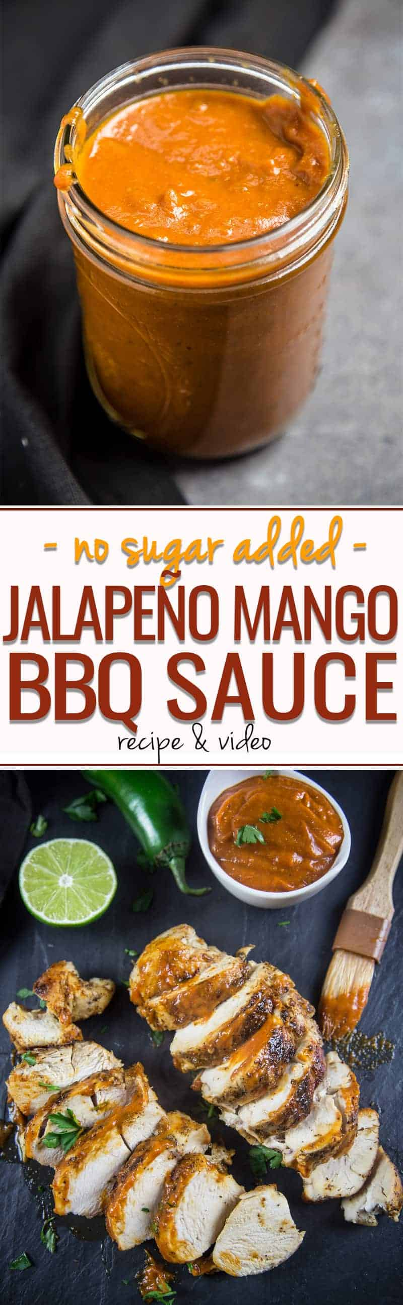 Watching your sugar intake? This Spicy Jalapeño Mango BBQ Sauce has no added sugar. It's naturally sweetened with caramelized onions and mangos.