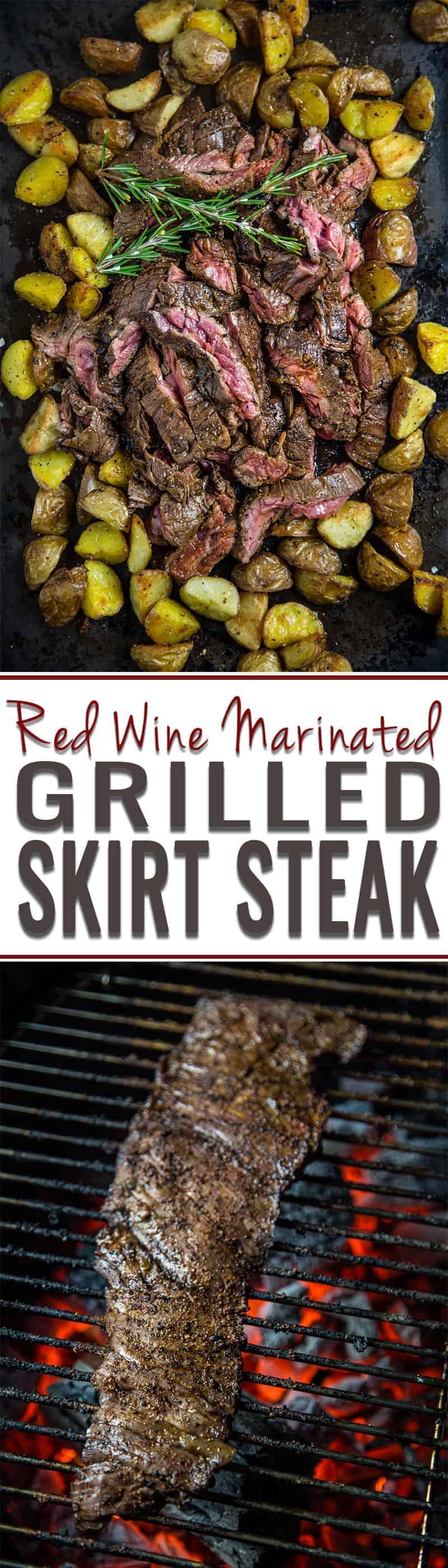 Red Wine Marinated Grilled Skirt Steak