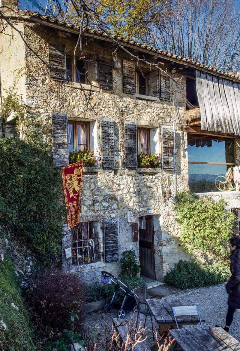L'Osteria senz'Oste, in Cartizze region within Valdobbiadene. Veneto, Italy.