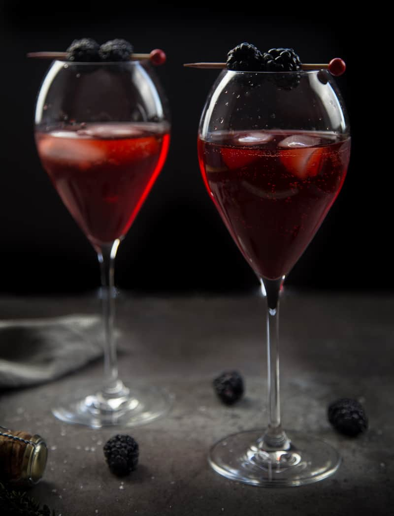 Blackberry Aperol Spritz Cocktail