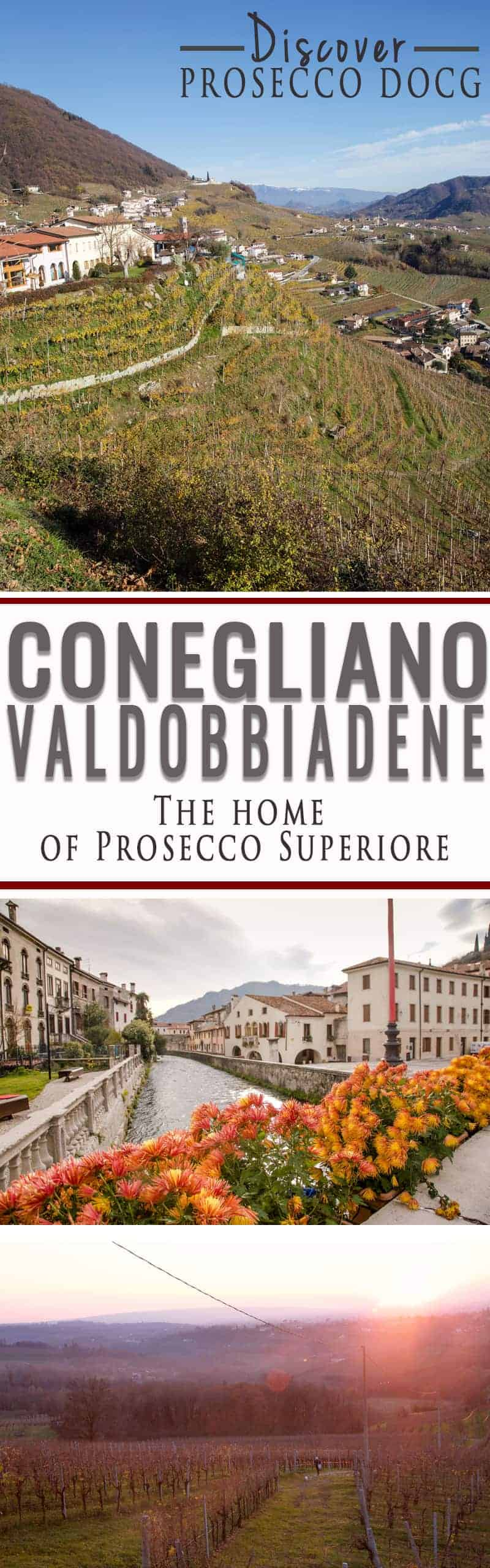 Images of wine travel in the Conegliano Valdobbiane wine region, home of Prosecco