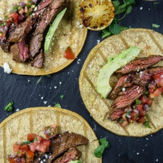Grilled Carne Asada Skirt Steak Tacos