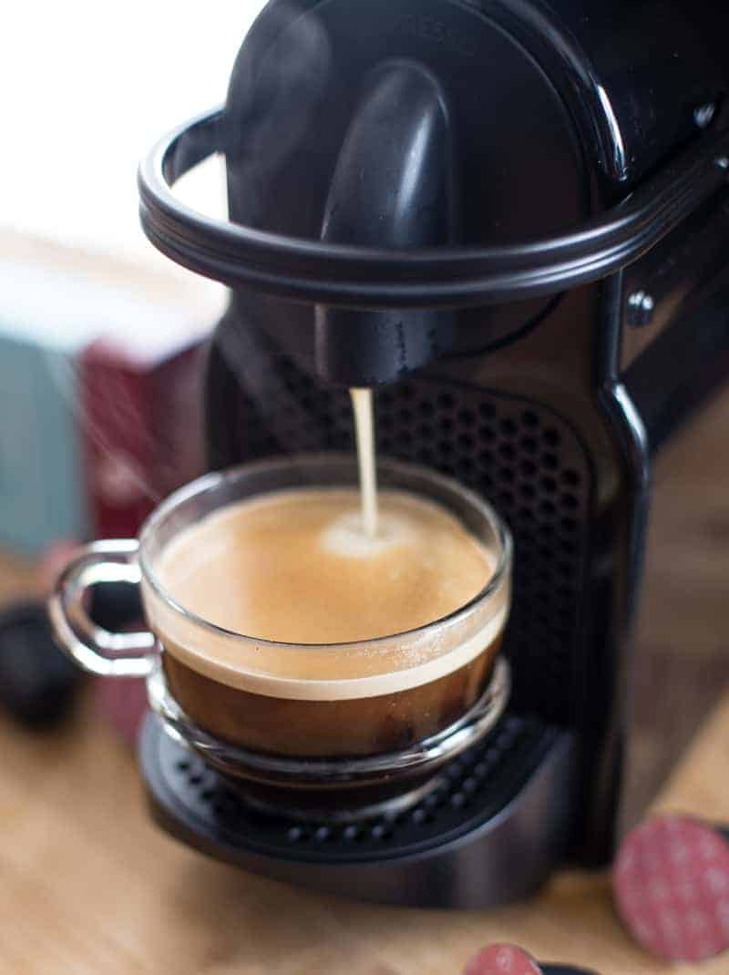 Nespresso Machine making coffee