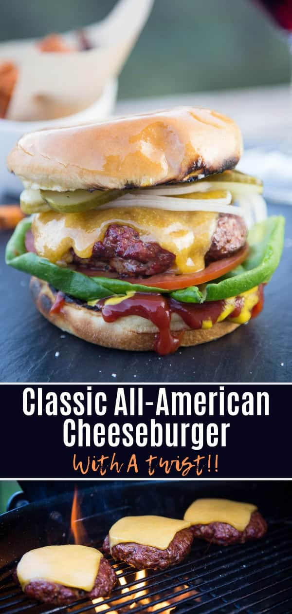 Classic All American Cheeseburger Recipe Pin Image