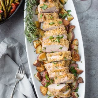 Kettle Chip Crusted Grilled Pork Tenderloin