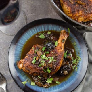 Grilled Chicken with Ancho Chilies and Prunes