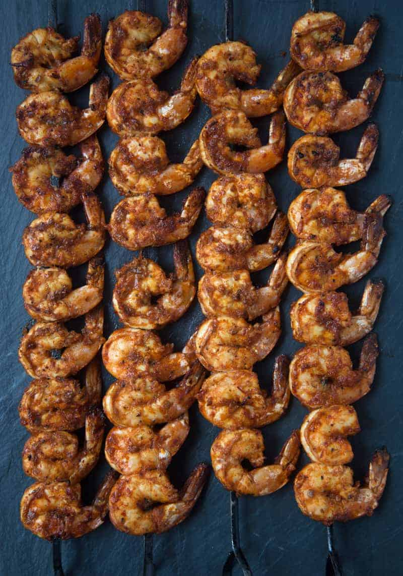 Grilled Chipotle Marinated Shrimp Skwers