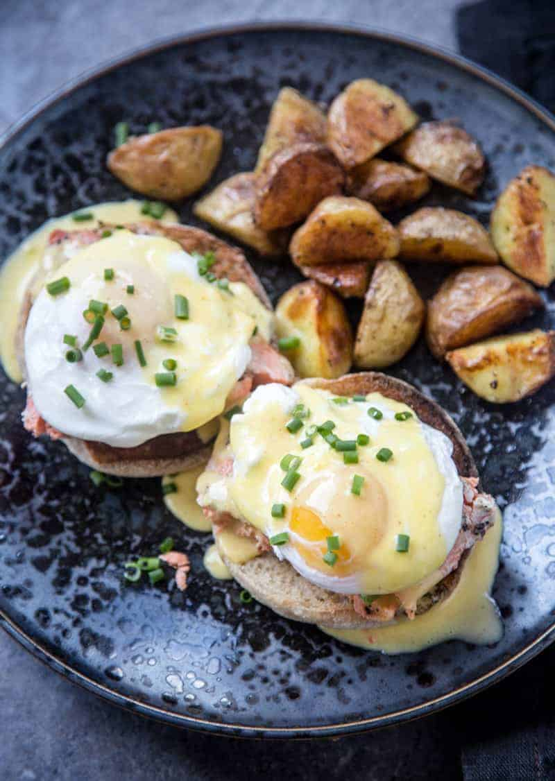 Eggs Benedict with Hot Smoked Salmon