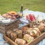Perfect Picnic with Smoked Pork Tenderloin Sandwiches and Beaujolais Wine