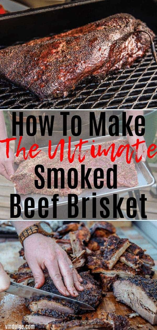 How to Make Smoked Beef Brisket pin image
