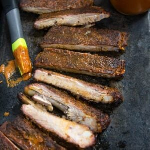 No Sugar Added Smoked Pork Ribs (Keto and Paleo Friendly)