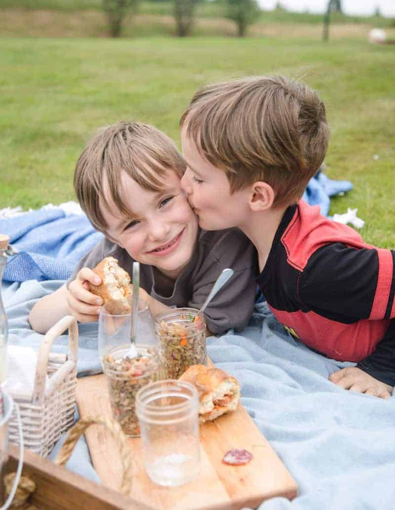 Kids having fun at a picnic