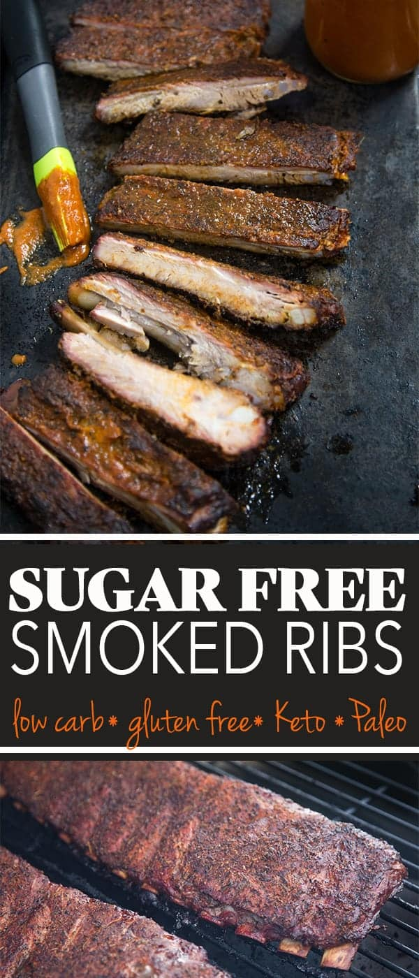 Sugar Free Smoked Pork Ribs pin