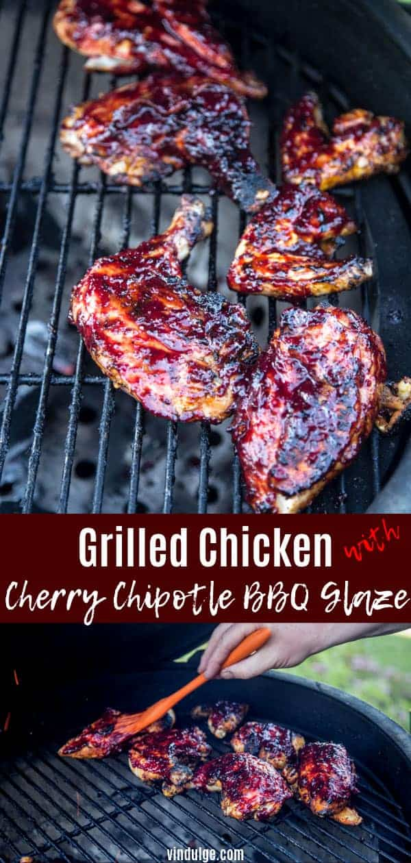 Grilled Chicken with Cherry Chipotle BBQ Glaze pin image