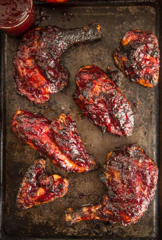 Grilled Chicken with Cherry Chipotle BBQ Glaze