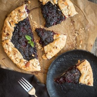 Grilled Blackberry Crostata (Gluten Free, Dairy Free)