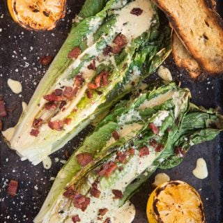 Grilled Romaine Caesar Salad (recipe and video)