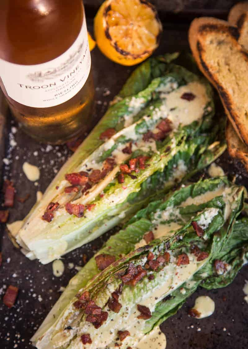 Wine Pairing for Grilled Caesar Salad