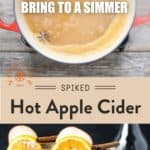 Hot bourbon cider pinterest pin