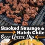 Smoked Sausage Cheese Dip Pinterest Image