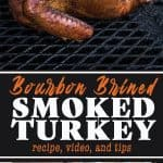 Smoked Turkey with a Bourbon Brine
