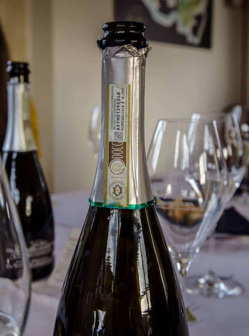 Prosecco Superiore DOCG Bottle Label