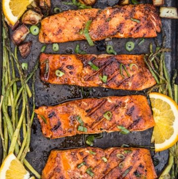 Grilled Salmon with Sweet Glaze