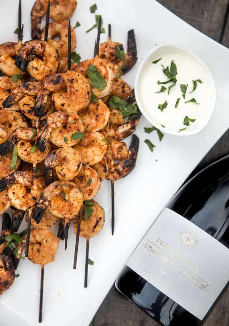 Spicy Grilled Shrimp and Prosecco Superiore DOCG