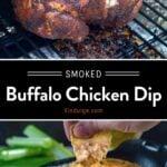 Smoked Buffalo Chicken Dip Pinterest Pin