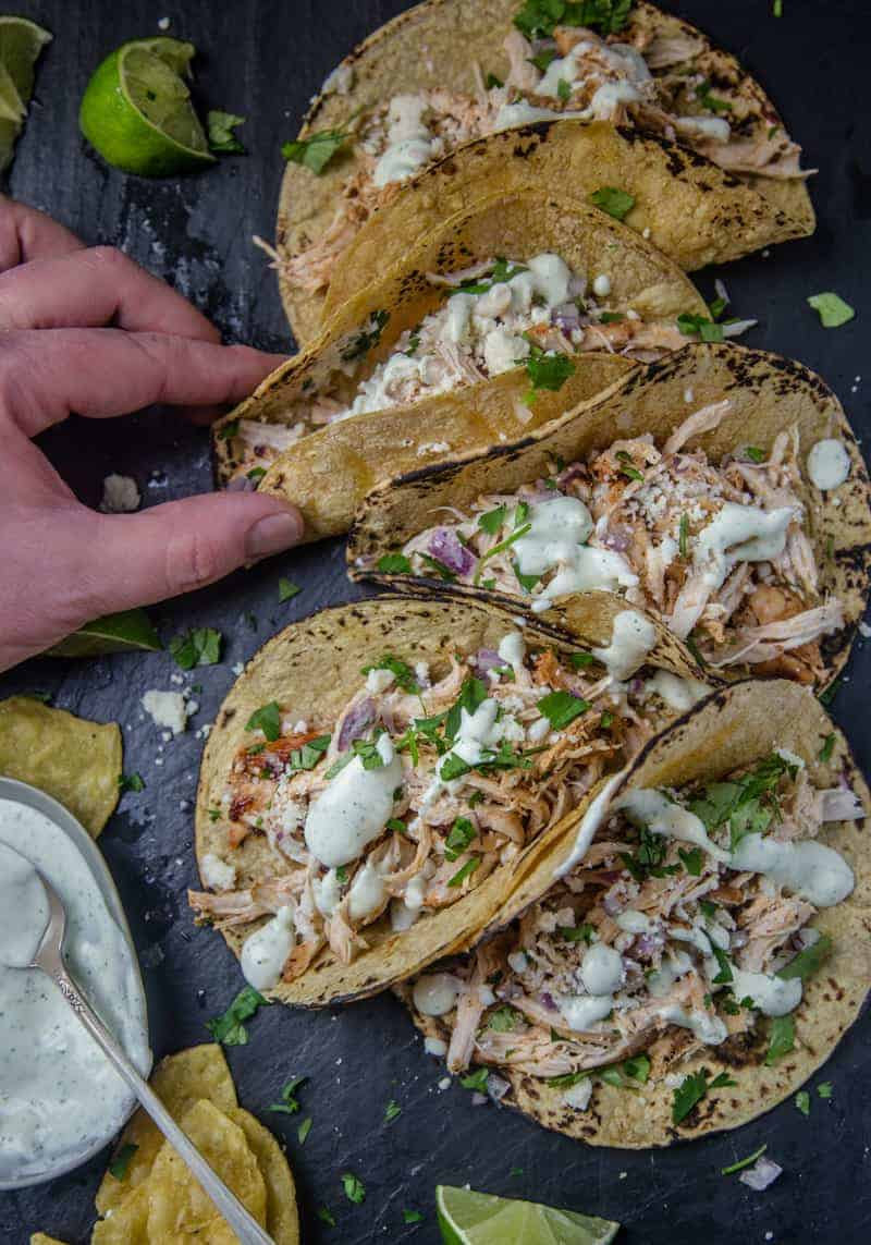 Grilled Chicken Tacos with Avocado Crema 2